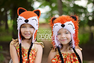 Handmade Crochet Fox Animal Hat for boys and girls of all ages