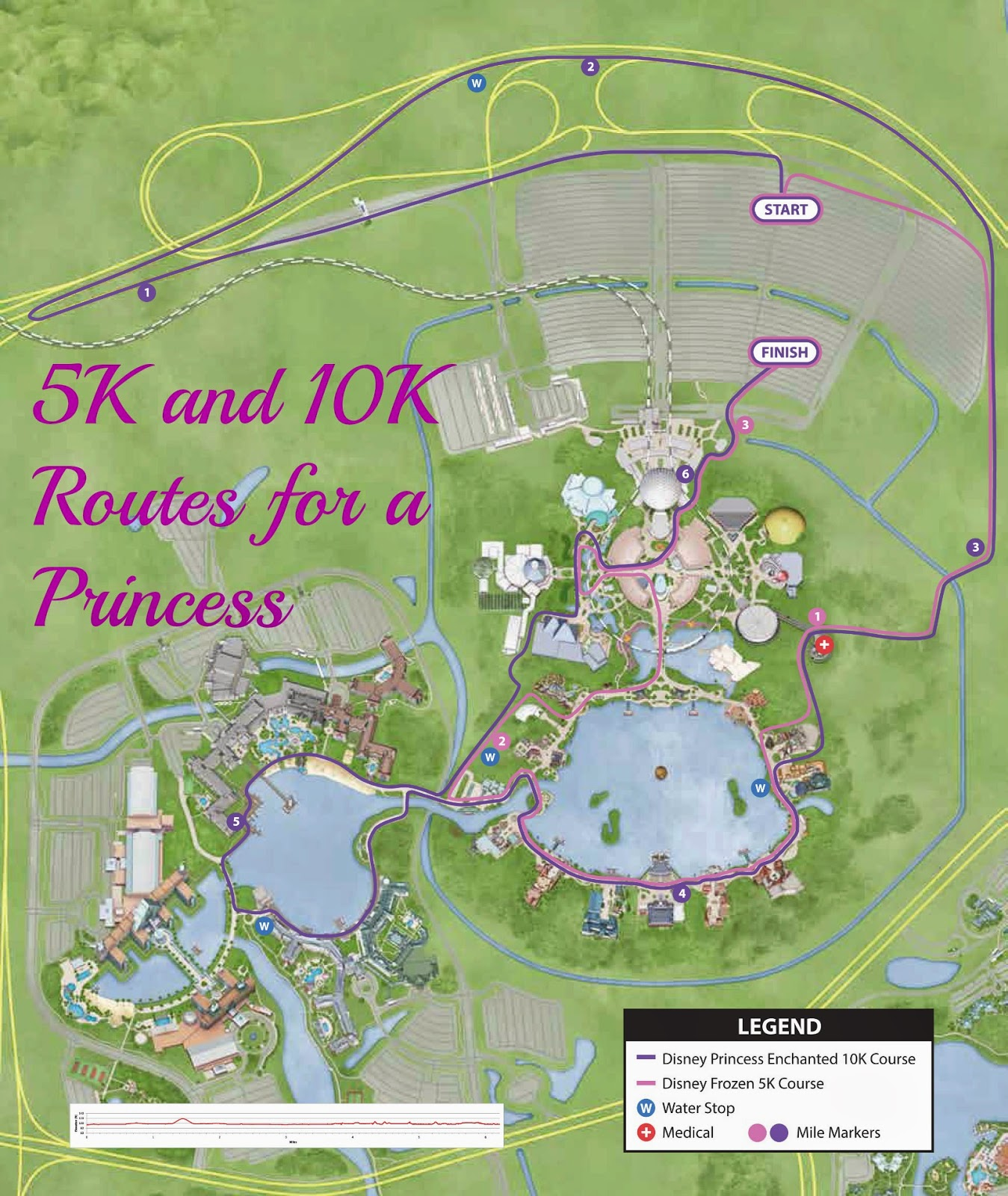 The Frozen 5K and Enchanted 10K Course Maps! Kessel RunnerThe Kessel ...