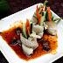 Rolled Pork with Vegetables and Tamarind Sauce (Heo Cuộn Rau Củ và Sốt Me)