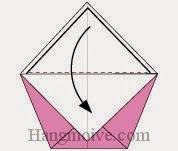 Bước 6: Gấp tờ giấy vừa cắt ra xuống dưới.