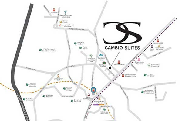Cambio Suites Location Map