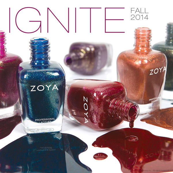 Zoya IGNITE Offers A Six Shimmering Red Gold Copper And Purple Liquid Metal Metallics
