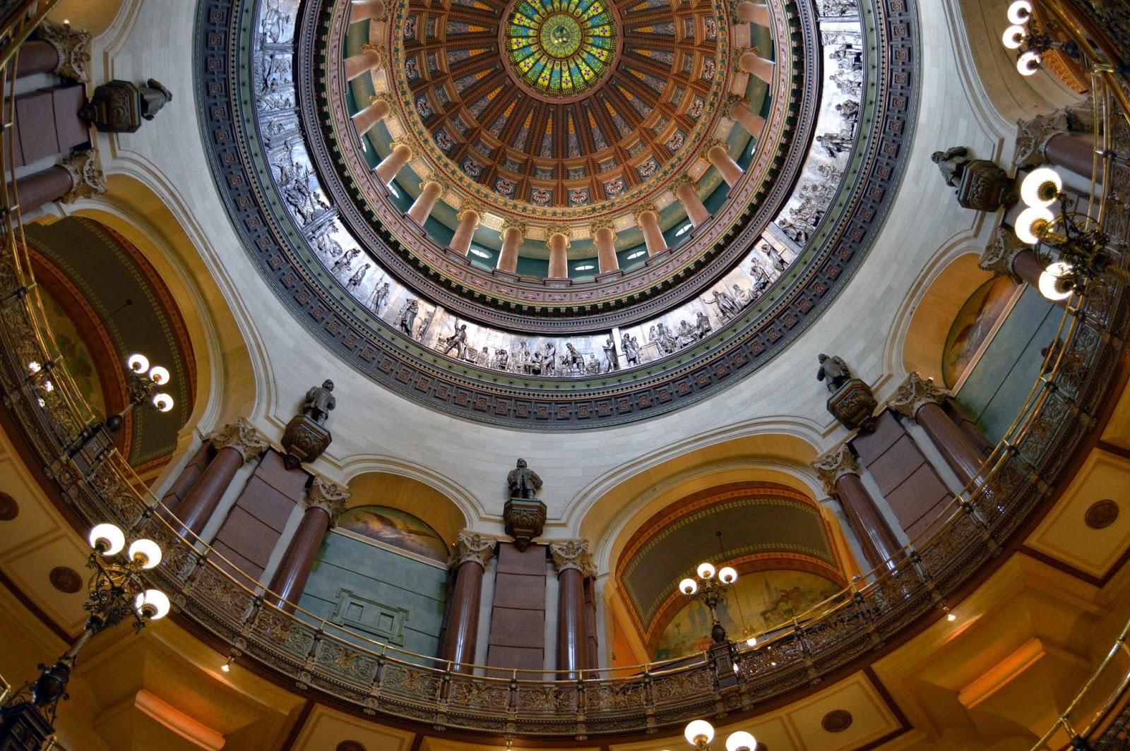 Illinois, Springfield Illinois, Springfield, Illinois State Capitol, Capitol Building, Capitol Building Dome