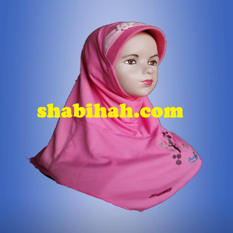 Jilbab Shabihah Grosir Pusat Pita Depan Model Simetris Bertali
