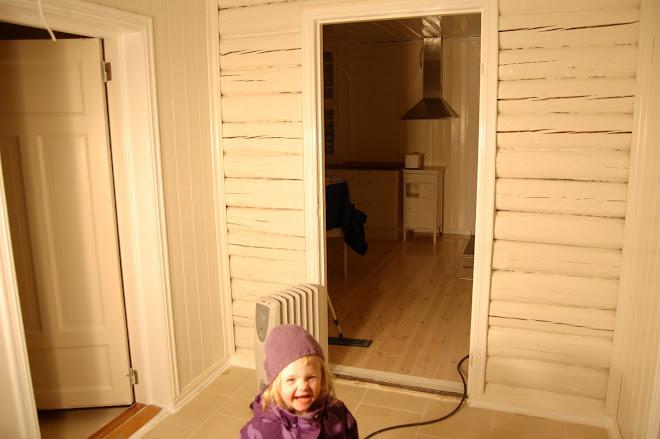 Tømmerveggen fra det gamle huset