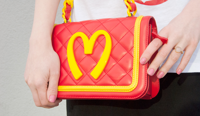 Moschino, bag, mcdonalds