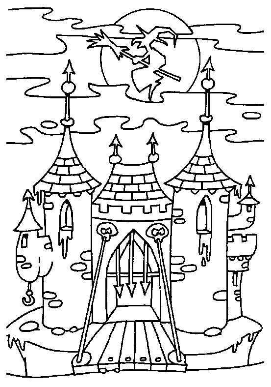 Free coloring pages of dragon and castle for Dragon and castle coloring pages