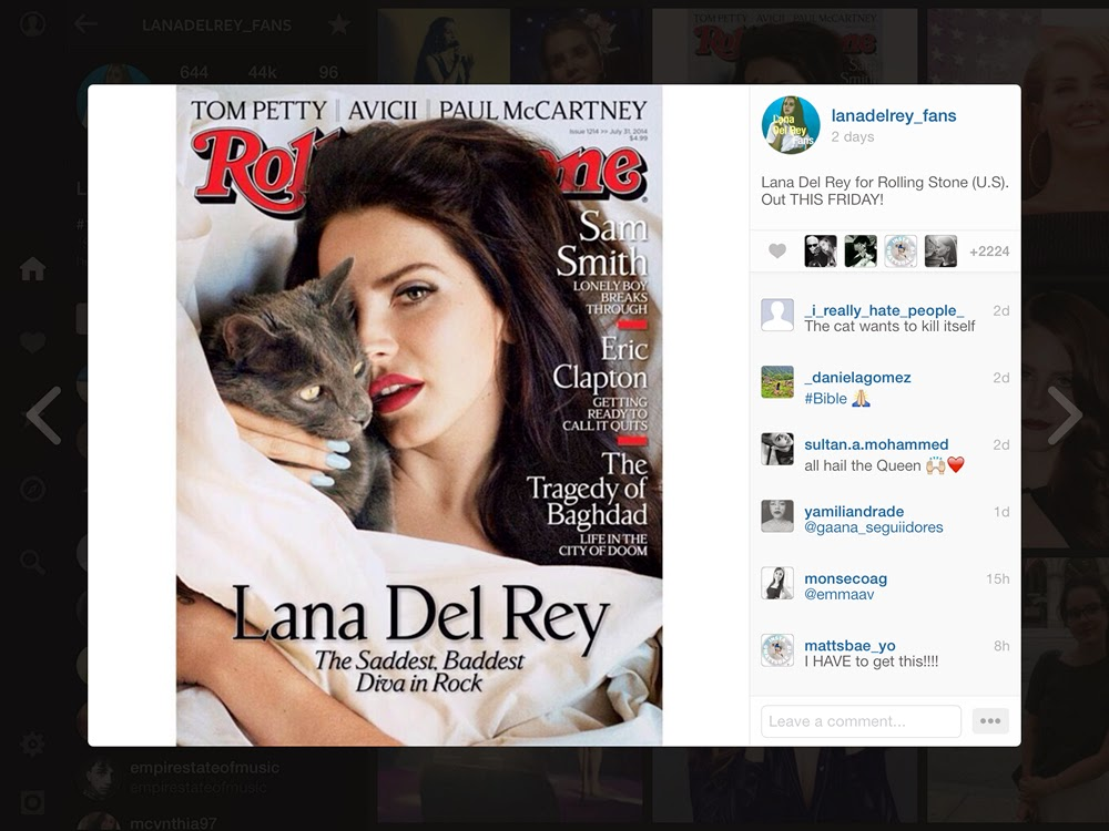 lana del rey rolling stone ultraviolence born to die