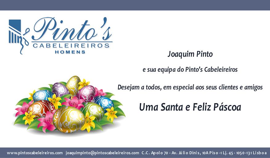 Pinto's Cabeleireiros - Votos de Boa Páscoa