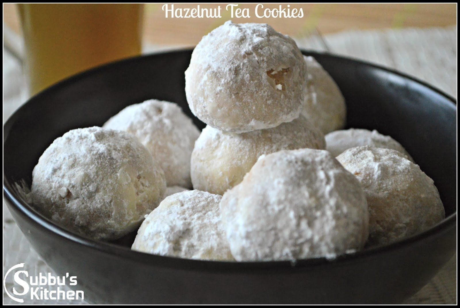 Hazelnut Tea Cookies (Tea Cakes)