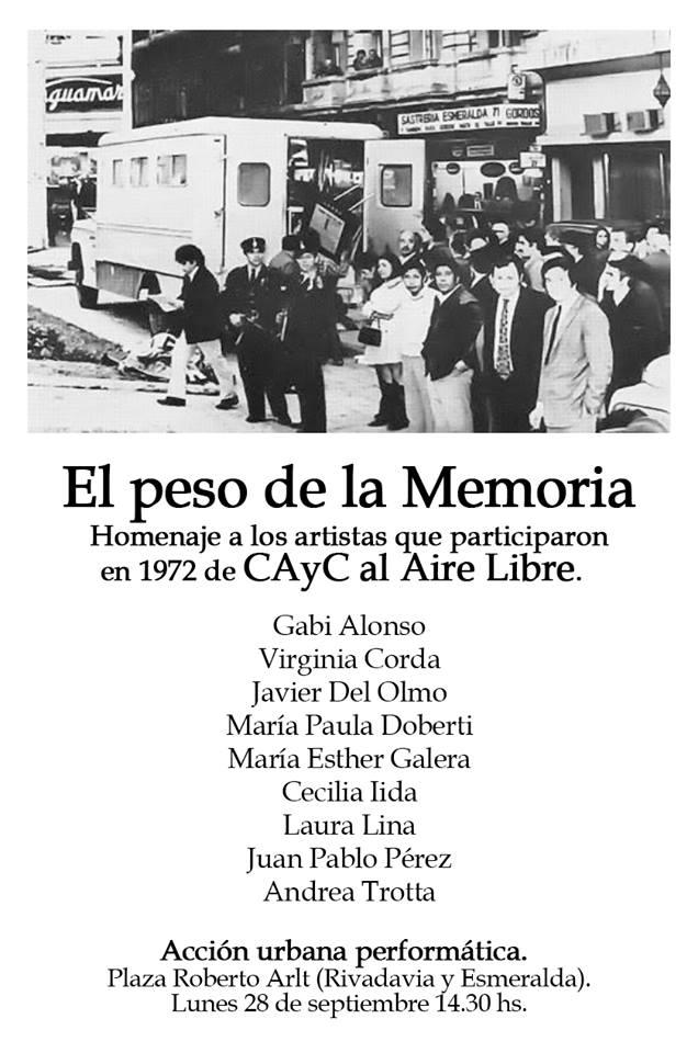 Homenaje artistas CAyC al aire libre