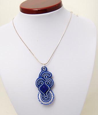 sutasz naszyjnik wisior soutache pendant necklace 24b