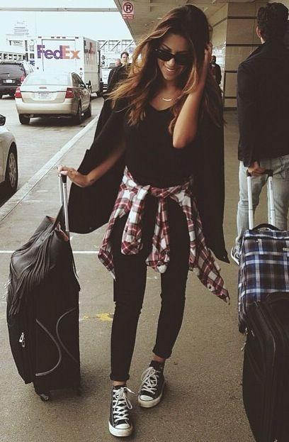 plaid shirt outfit ideas