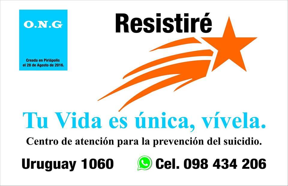 RESISTIRÉ Centro de atención para la prevención del suicidio.