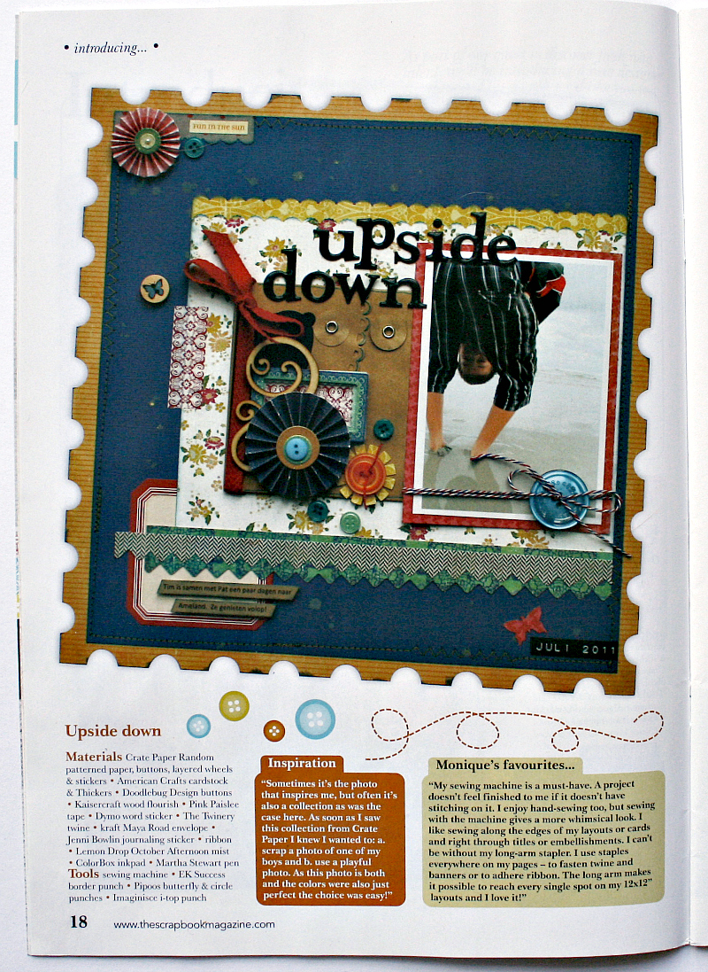 How to scrapbook uk - I Have To Say It Feels Very Strange To See My Photo And Layouts In A Real Magazine But I M Over The Moon