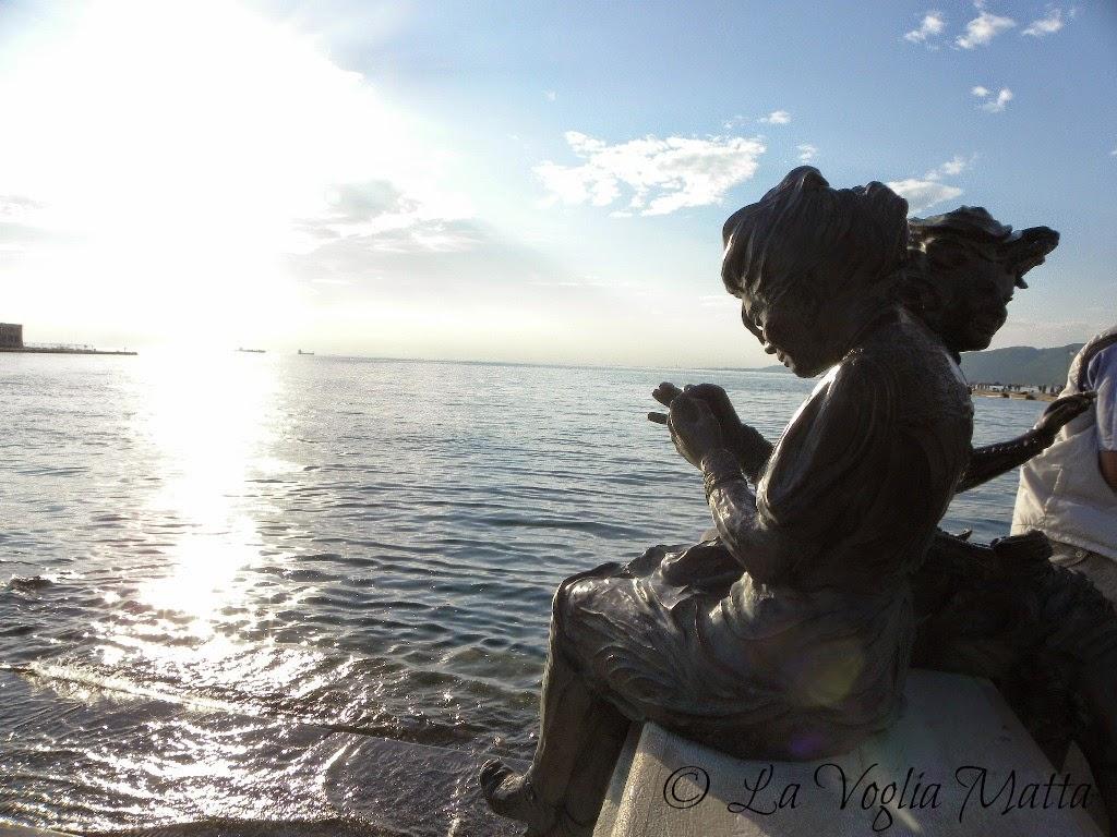 Trieste statua in bronzo