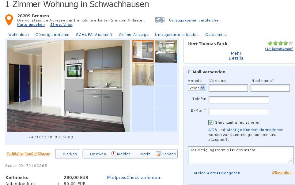 tbeck070 alias thomas beck vorkassebetrug fraud scam gegen wohnungsbetrug. Black Bedroom Furniture Sets. Home Design Ideas