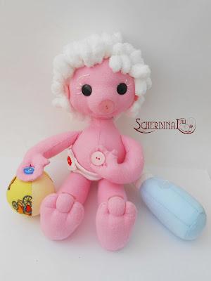 игровая развивающая текстильная кукла Пуговка