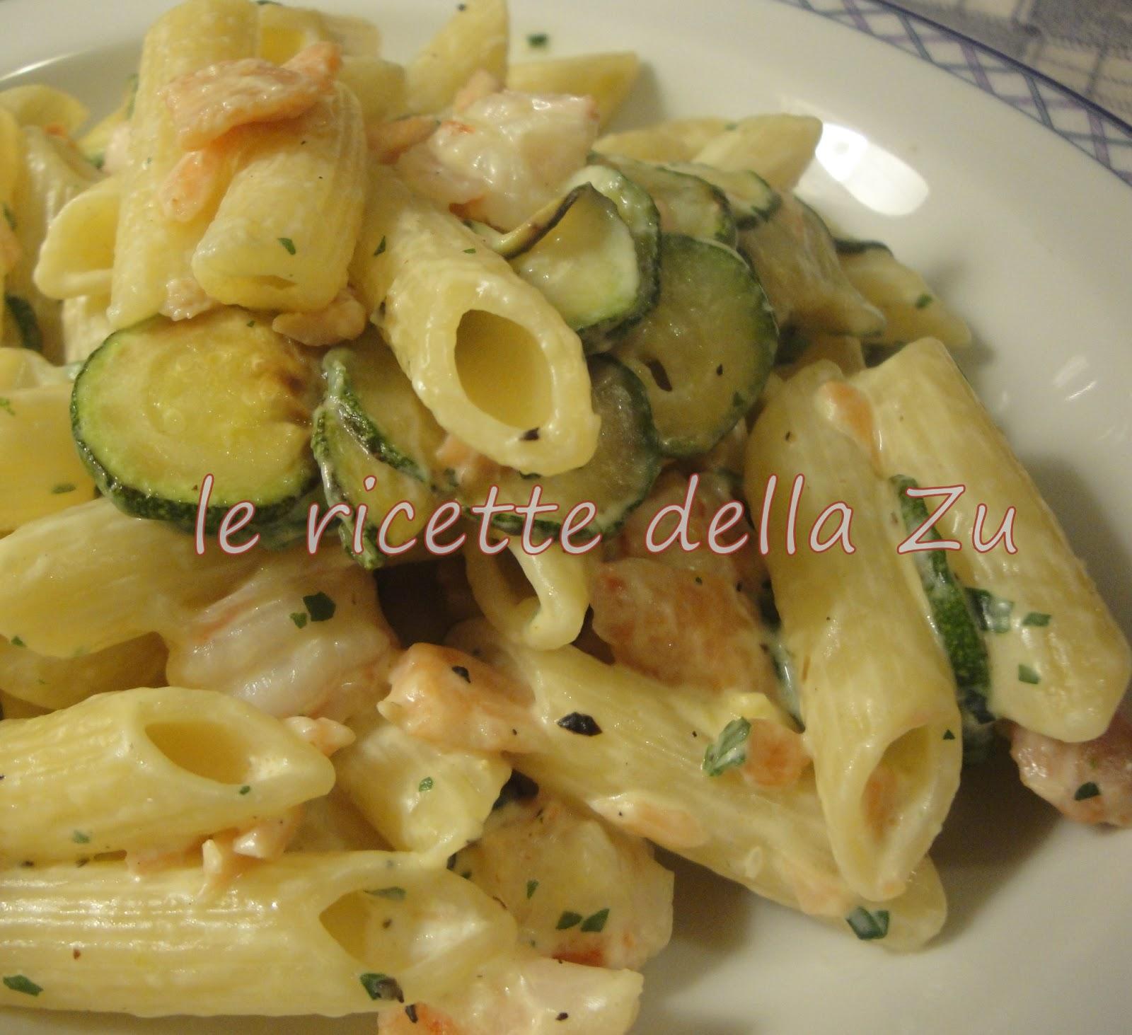 Ricetta della pasta con gamberetti e panna