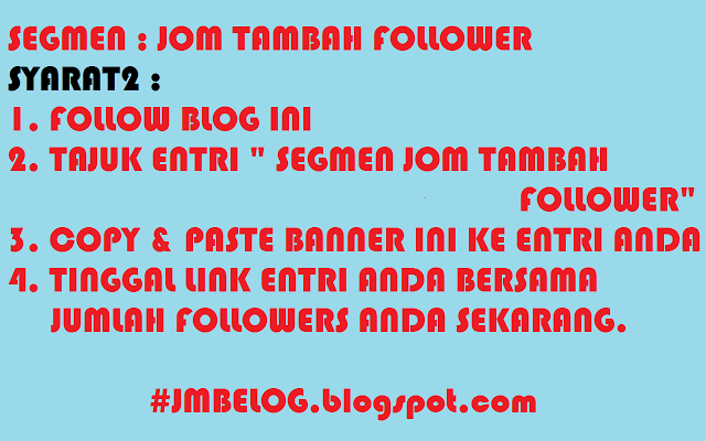 SEGMEN JOM TAMBAH FOLLOWER