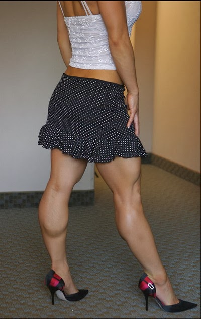 muscular calves and heels