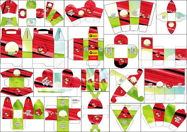 Angry Birds: Cajas para Imprimir Gratis.