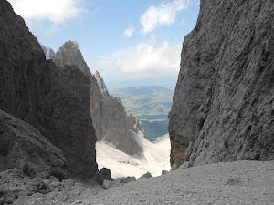 La forcella del Sasso Lungo Dolomiti