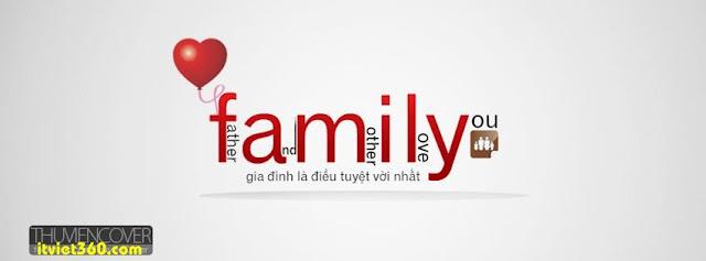 Ảnh bìa Facebook gia đình, tuổi thơ - Cover FB timeline Family,