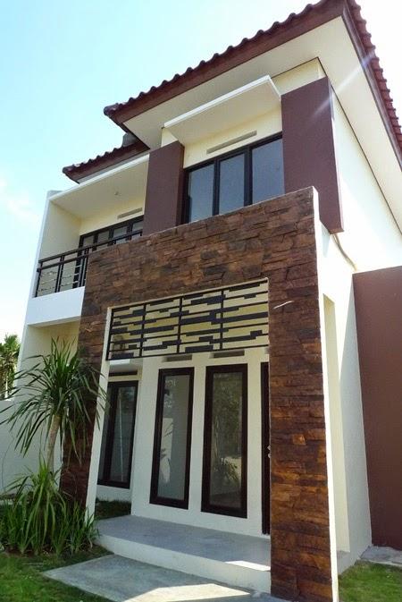 batu alam pada rumah minimalis