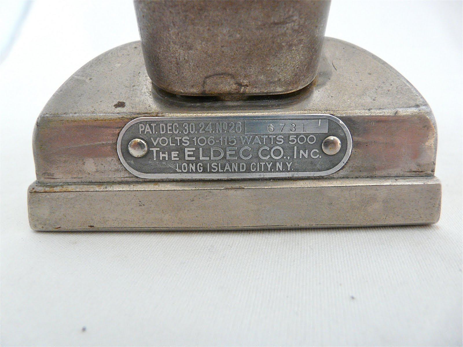 First Electric Iron ~ Eldec the first steam iron vintage electric irons