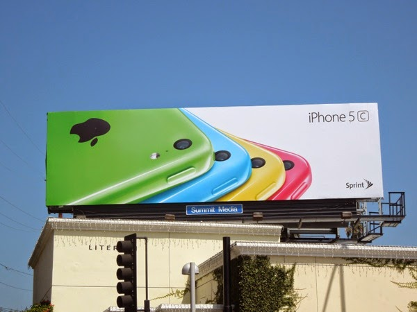 Apple iPhone 5c Sprint billboard