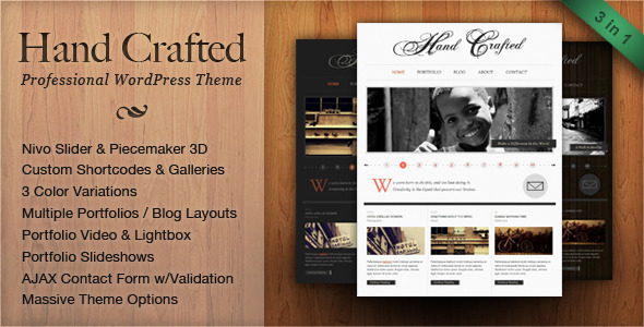 Hand Crafted - Professional Wordpress Theme Free Download by ThemeForest.
