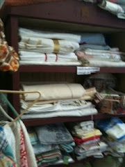 Antique French linens and fabric
