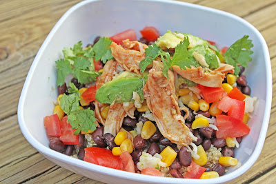 BBQ Chicken Quinoa Salad - ABPetite and Glam Hungry Mom
