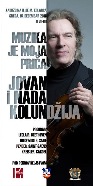 Koncert maestra Jovana Kolundžije