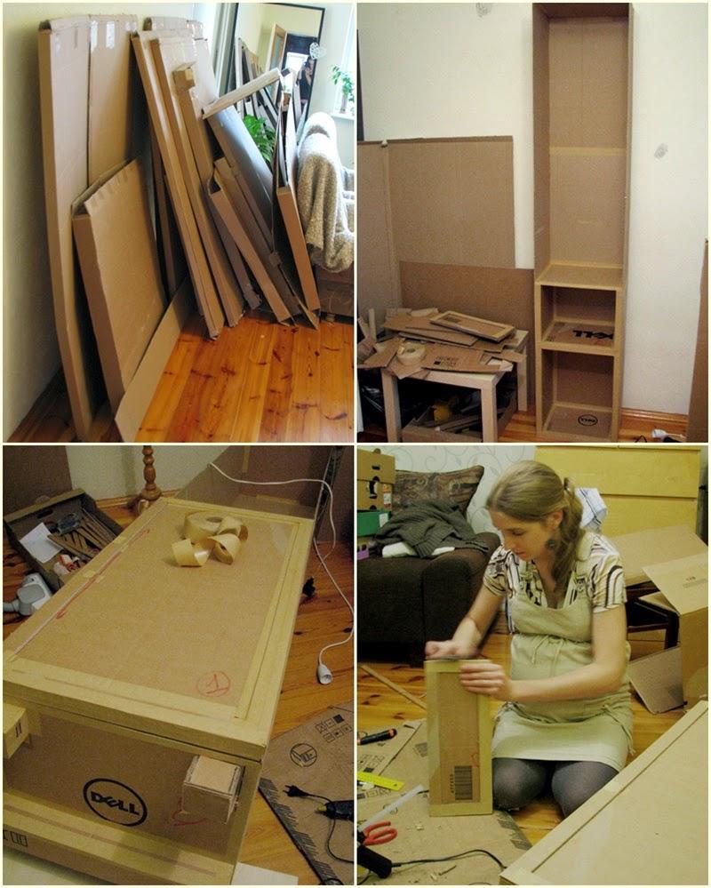 meble z kartonu | jak zrobic szafke z kartonu | szafka do lazienki z kartonu