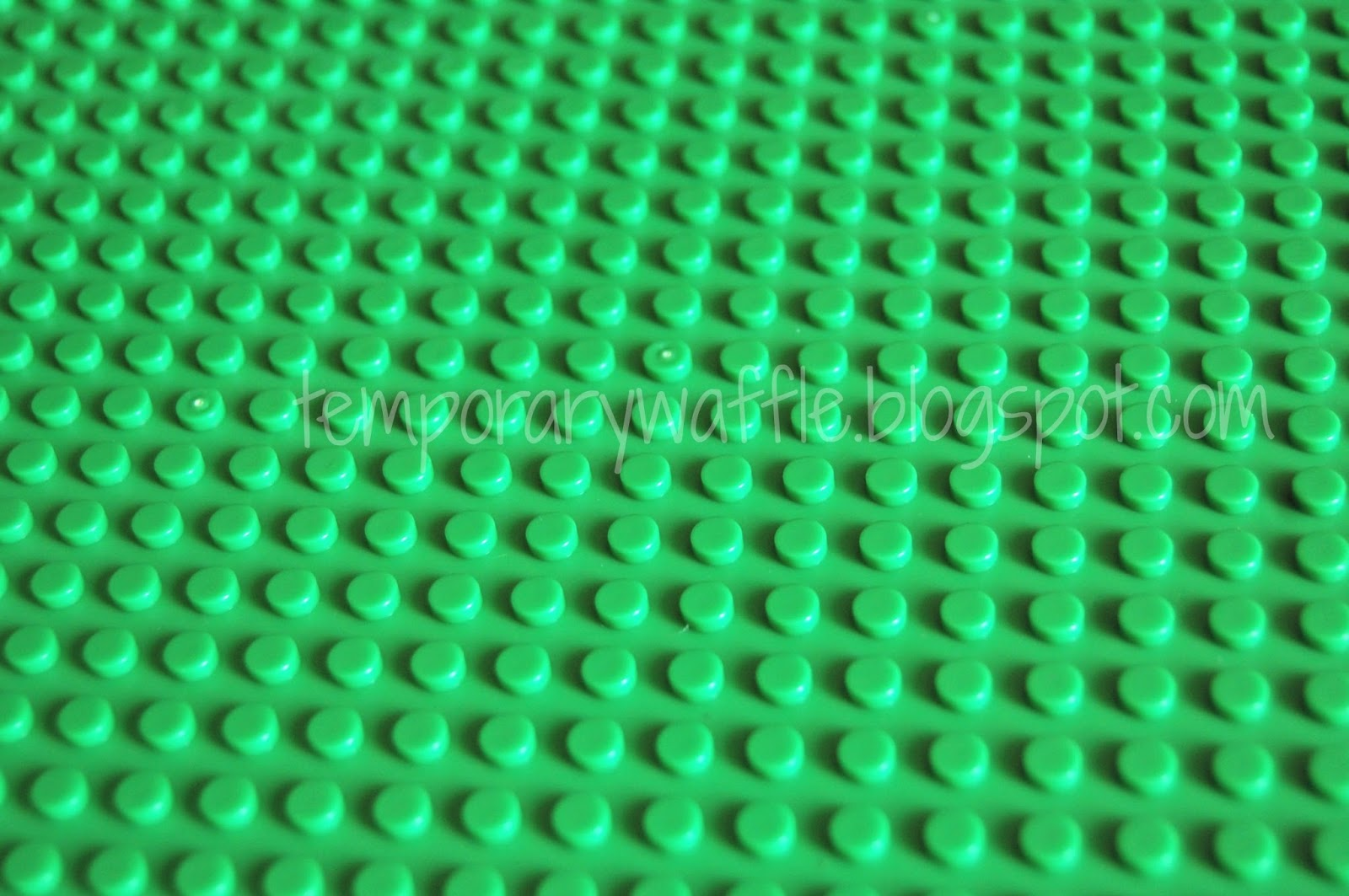 Temporary Waffle Building With Lego S On Green Lego
