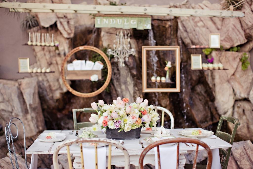 Antique ladder wedding