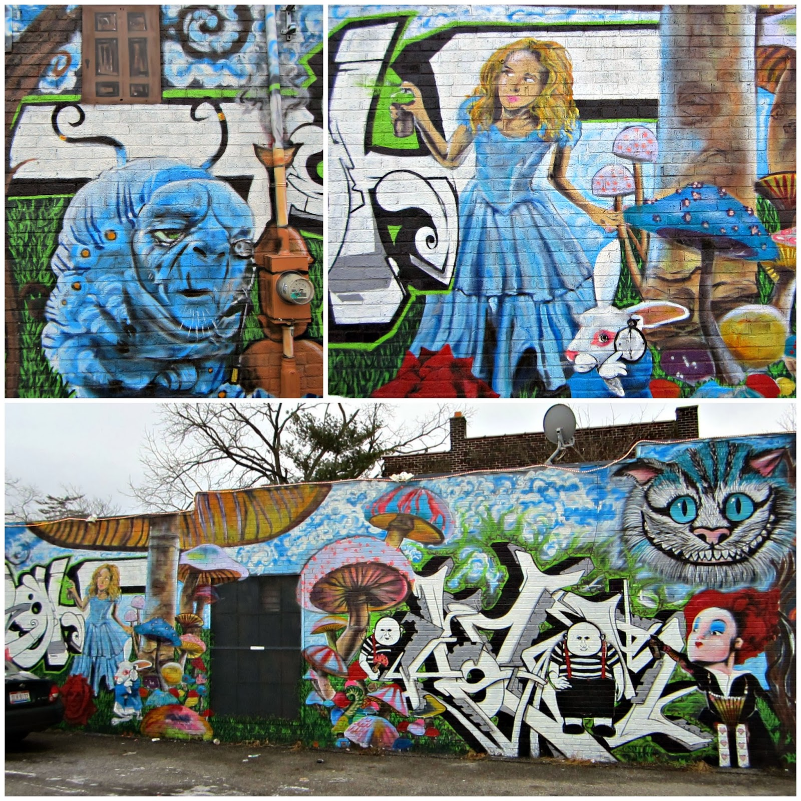 Cbus52 columbus in a year wonderland wall for Alice in wonderland mural