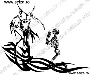skeleton tattoo design / Death tattoo / tribal tattoo
