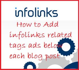 How to add, infolinks, related tags, ads, below ,each ,blog ,post