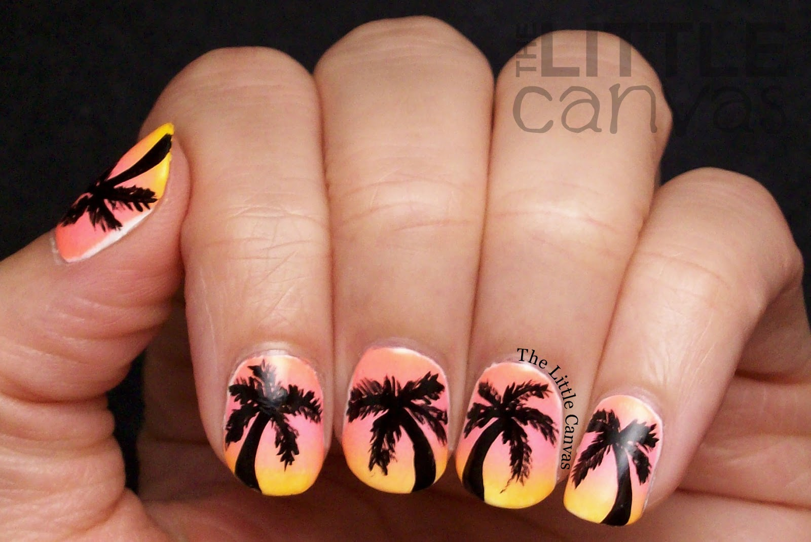 Wonderful Swirl Nail Polish Thick Nail Art Games For Kids Shaped How To Do Nail Art Designs Step By Step Nail Art Tv Show Youthful Best Nail Polish Blogs FreshNail Art Stickers Online The Little Canvas: Tropical Palm Tree Nail Art