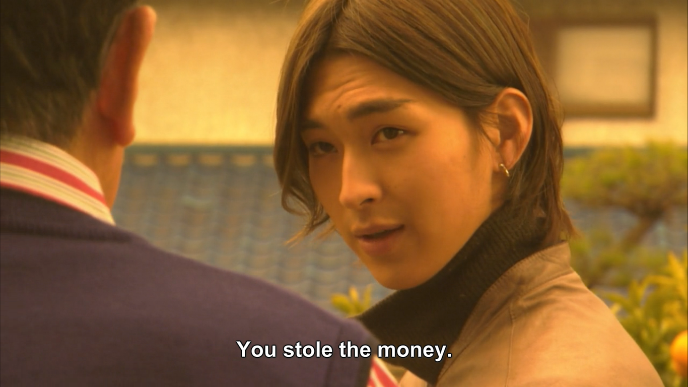 The main character Akiyama accusing someone else with a super condescending look.