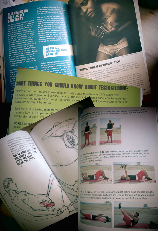 Images from open pages of  the health guide