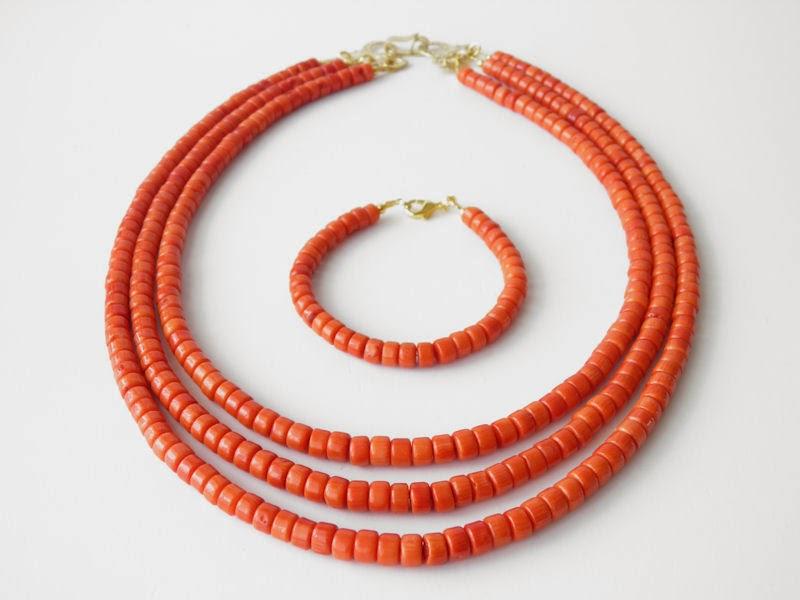biżuteria góralska, korale góralskie, ekokoral, biżuteria z korala korale ludowe kolor jak koral naturalny