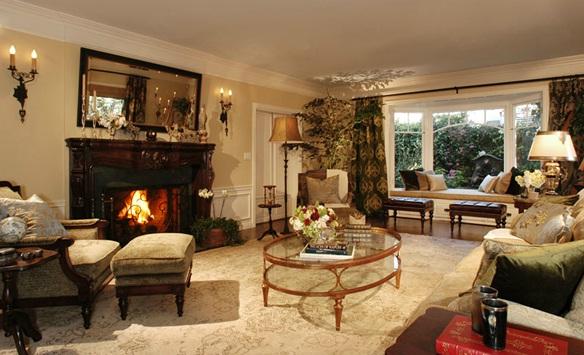 Decora y disena decoraci n de salas por annette english - Decoracion de chimeneas interiores ...