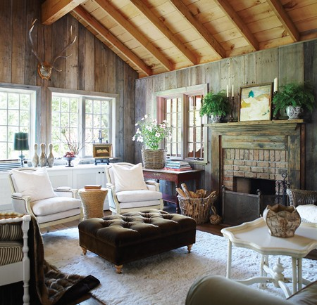 The essence of home rustic cottage decor - Rustic chic living room ...