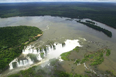 vista aérea Cataratas do Iguaçú