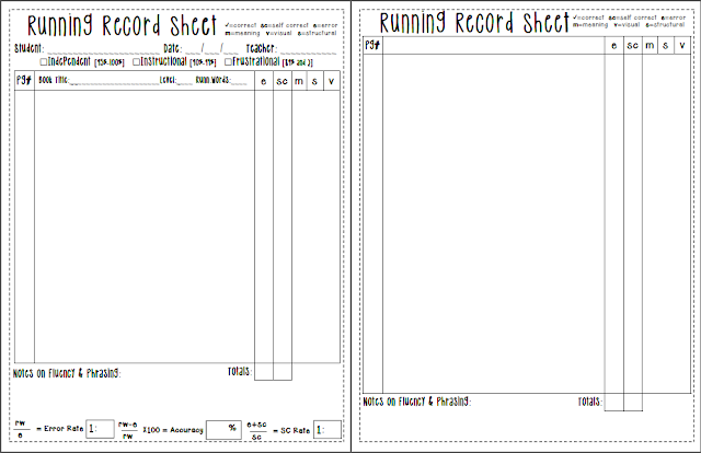 Clever image with printable running records