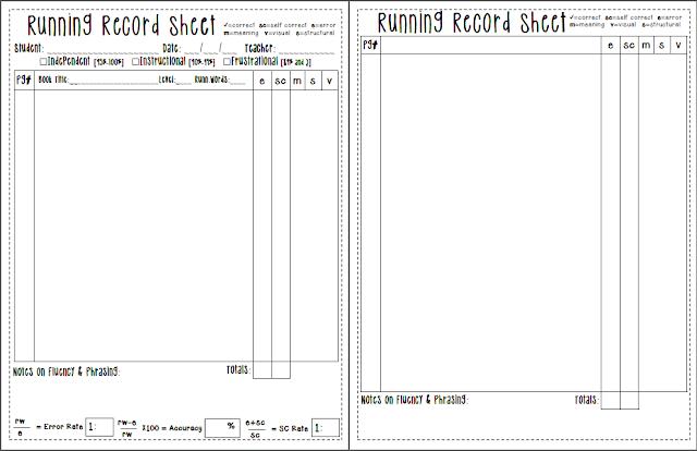 kindergarten kidlets: Running Records {Free}